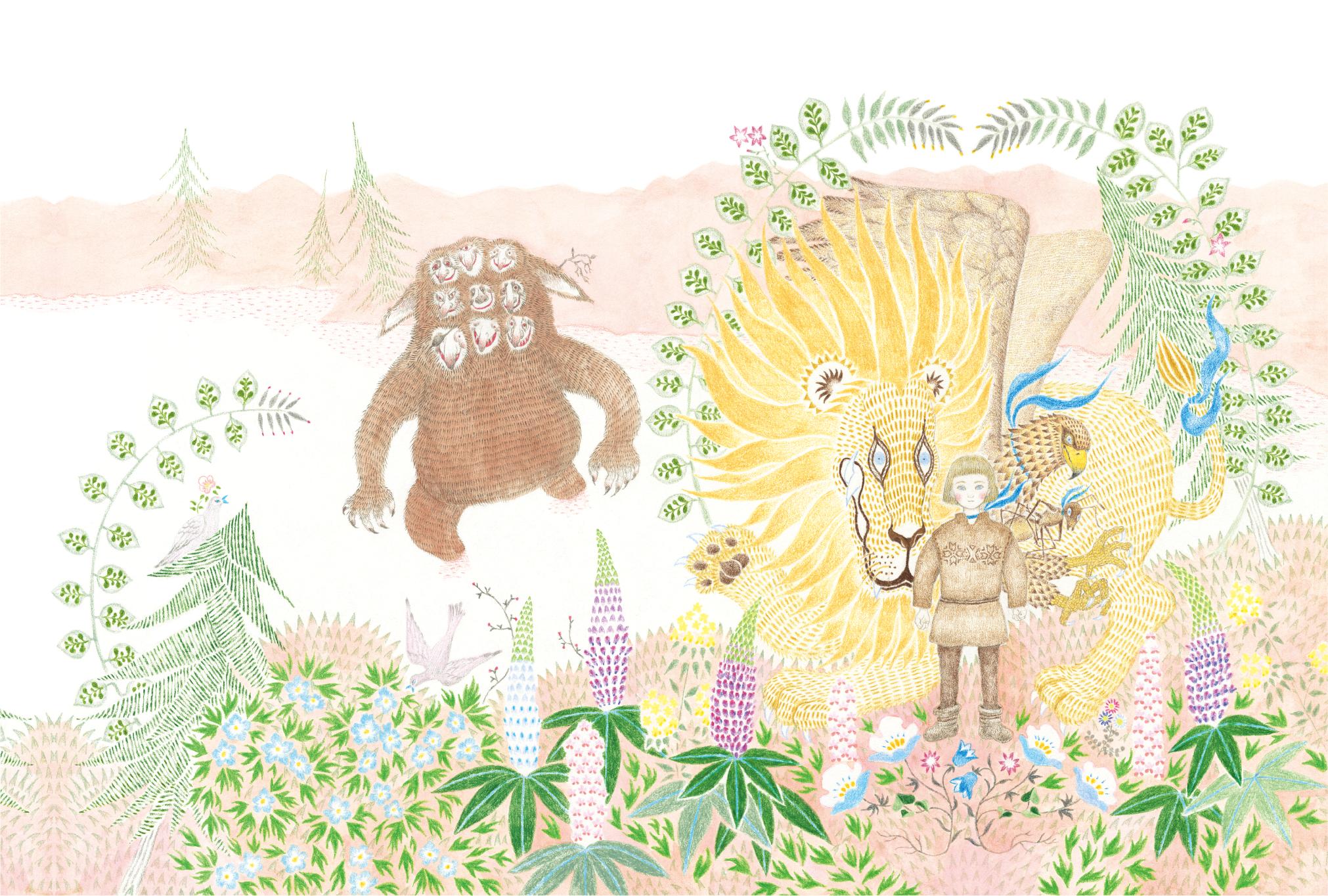 2020年2月15日(土)〜2月24日(月)MARUU個展『ライオンとタカとアリになった男の子』